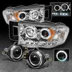 Dodge Ram 2002-2005 Clear Halo Projector Headlights and Halo Fog Lights