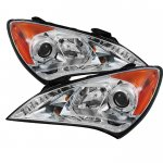 Hyundai Genesis 2010-2012 Clear Halo Projector Headlights with LED