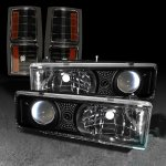1997 GMC Yukon BBlack Projector Headlights and Corner Lights