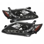 Toyota Camry 2007-2009 Black Projector Headlights with LED