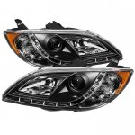 Mazda 3 Sedan 2004-2008 Black Projector Headlights with LED Daytime Running Lights