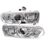2001 Chevy S10 Clear Halo Projector Headlights