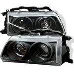 Honda CRX 1988-1989 JDM Black Halo Projector Headlights