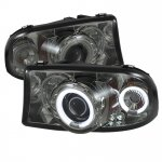 2002 Dodge Durango Smoked CCFL Halo Projector Headlights
