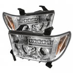 2011 Toyota Tundra Clear CCFL Halo Projector Headlights with LED