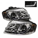 2007 Audi A3 Clear Projector Headlights with LED Daytime Running Lights