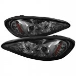 Pontiac Grand AM 1999-2005 Smoked Dual Halo Projector Headlights with LED