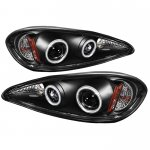 Pontiac Grand AM 1999-2005 Black CCFL Halo Projector Headlights