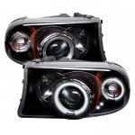 2002 Dodge Durango Black CCFL Halo Projector Headlights