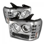 2010 GMC Sierra 2500HD Clear CCFL Halo Projector Headlights with LED