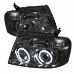 2007 Ford F150 Smoked CCFL Halo Projector Headlights with LED