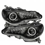 2013-2014 Scion FRS Black Projector Headlights LED DRL