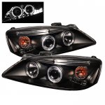 2010 Pontiac G6 Black Dual Halo Projector Headlights with LED