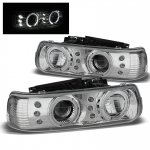 2005 Chevy Suburban Chrome Halo Projector Headlights LED DRL