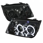 2004 VW Jetta Smoked CCFL Halo Projector Headlights