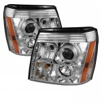 2005 Cadillac Escalade Clear Halo Projector Headlights with LED
