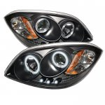 2007 Pontiac G5 Black CCFL Halo Projector Headlights with LED