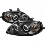 2000 Honda Civic Black Dual CCFL Halo Projector Headlights