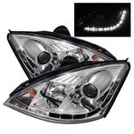2000 Ford Focus Clear Projector Headlights with LED Daytime Running Lights