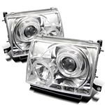 2000 Toyota Tacoma Clear Dual Halo Projector Headlights with LED
