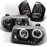 Chrysler 300C 2005-2007 Black CCFL Halo Headlights and LED Tail Lights