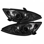 Toyota Camry 2002-2006 Smoked Halo Projector Headlights