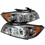 2007 BMW 3 Series E90 Sedan Clear Dual CCFL Halo Projector Headlights