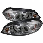 Chevy Impala 2006-2010 Clear CCFL Halo Projector Headlights