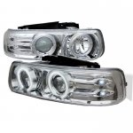 2000 Chevy Silverado Clear CCFL Halo Projector Headlights with LED