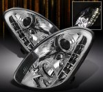 Infiniti G35 Sedan 2003-2004 Clear Projector Headlights with LED