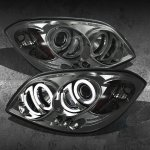 Chevy Cobalt 2005-2010 Smoked CCFL Halo Projector Headlights with LED
