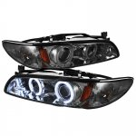 1998 Pontiac Grand Prix Smoked CCFL Halo Projector Headlights