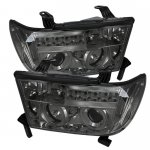 2013 Toyota Tundra Smoked CCFL Halo Projector Headlights