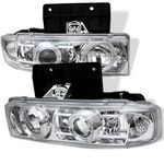 2000 Chevy Astro Clear Dual Halo Projector Headlights