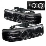 2005 Chevy Suburban Smoked Halo Projector Headlights with LED