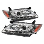 Toyota Camry 2007-2009 Clear Projector Headlights with LED
