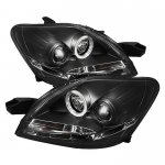 Toyota Yaris Sedan 2007-2011 Black Halo Projector Headlights with LED
