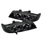 Honda Accord 1994-1997 Smoked Dual Halo Projector Headlights