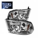 2010 Dodge Ram 3500 Clear Halo Projector Headlights with LED DRL