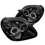 Mercedes Benz SLK 1998-2004 Black Dual Halo Projector Headlights