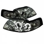 Ford Mustang 1999-2004 Smoked CCFL Halo Projector Headlights