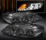 Mazda 6 2003-2005 Smoked CCFL Halo Projector Headlights with LED DRL