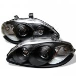 Honda Civic 1996-1998 Black Halo Projector Headlights