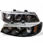 1995 Honda Accord Black Dual Halo Projector Headlights