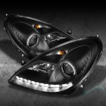 2009 Mercedes Benz SLK Black Projector Headlights with LED
