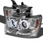 2011 Chevy Suburban Clear CCFL Halo Projector Headlights with LED