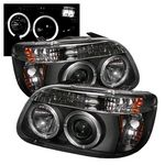 1995 Ford Explorer Black Dual Halo Projector Headlights
