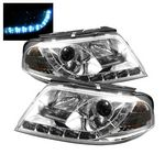2004 VW Passat Clear Projector Headlights with LED Daytime Running Lights
