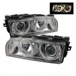 2000 BMW 7 Series Clear Dual Halo Projector Headlights