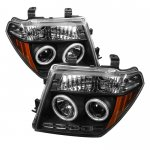 2006 Nissan Frontier Black CCFL Halo Projector Headlights with LED